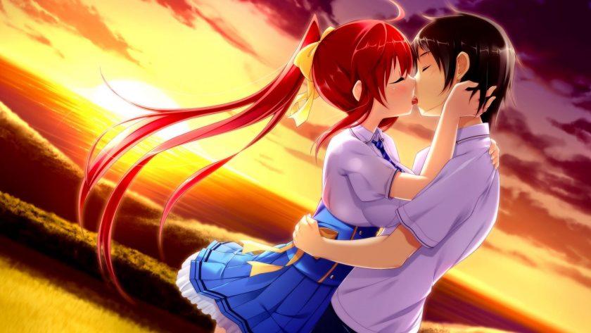 ảnh nền tình yêu anime lãng mạn