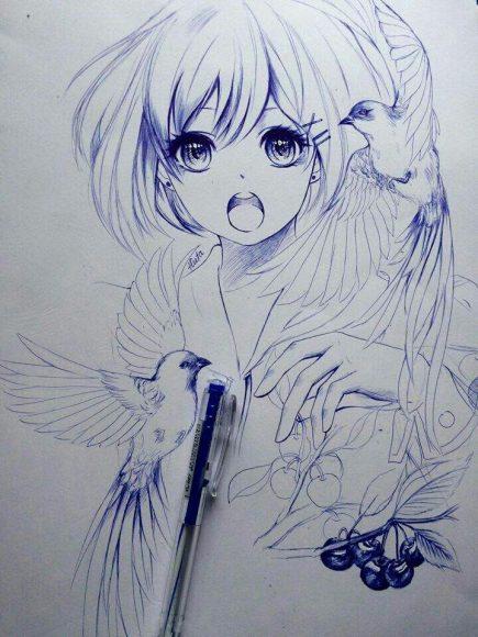 anh ve anime girl dep nhat