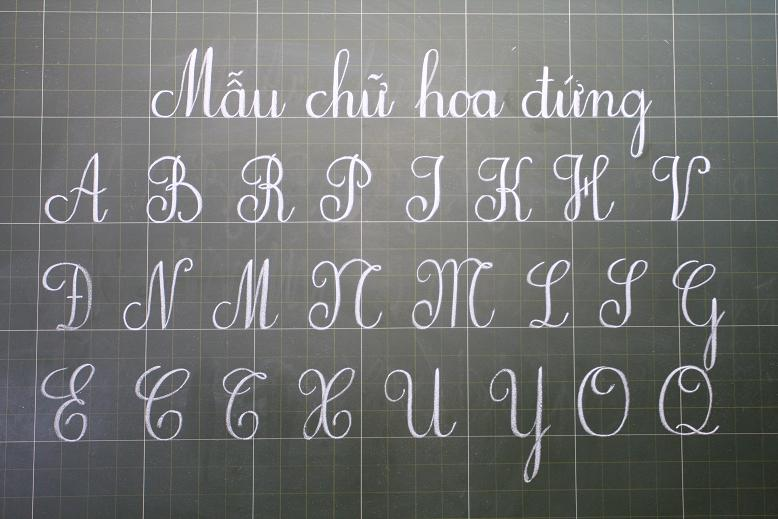 bảng chữ cái tiếng việt viết hoa đẹp