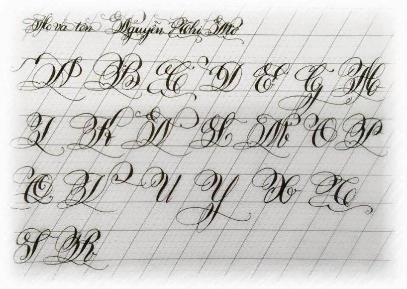 Bảng chữ cái viết hoa cách điệu