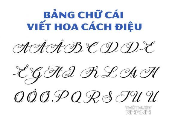Bảng chữ cái viết hoa cách điệu tiếng Việt
