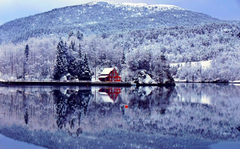 hình ảnh cảnh tuyết rơi đẹp tại Lofoten Nauy