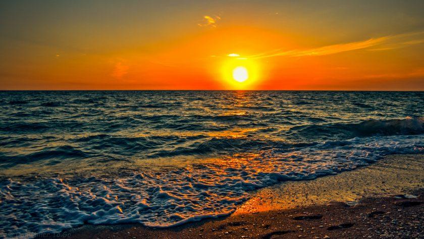 hình ảnh nắng chiều trên biển đẹp