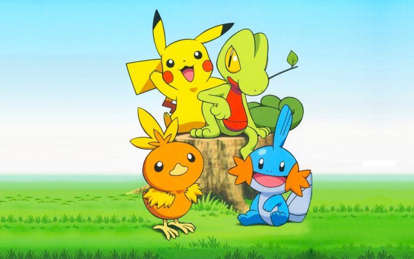 hình ảnh pikachu với các pokemon tinh nghịch