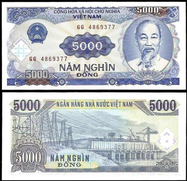 hình ảnh tờ tiền 5000 đồng