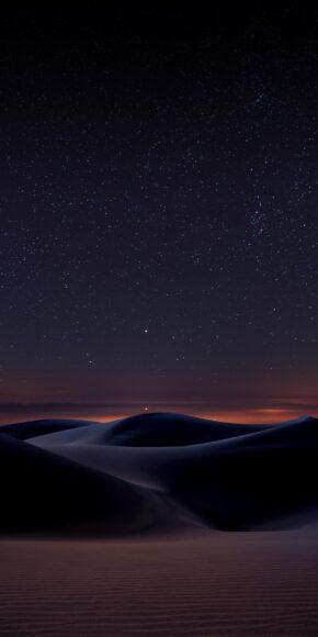 hình nền bầu trời đêm tại sa mạc