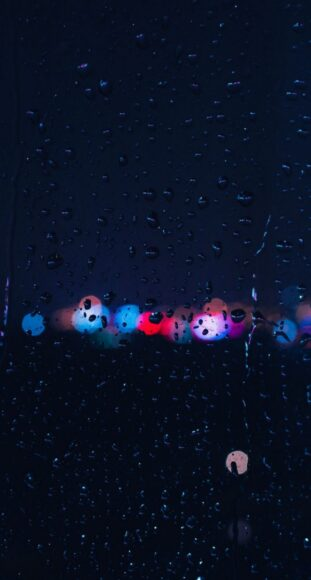 hình nền điện thoại mưa đêm