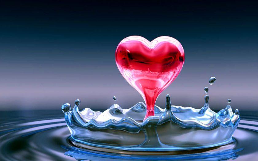 hình nền trái tim tình yêu 3D