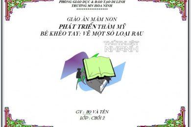 Mẫu bìa giáo án đẹp - Tổng hợp những mẫu khung bìa giáo án cho giáo viên