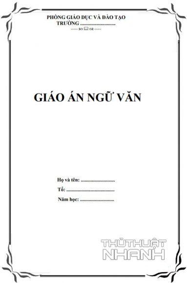 mẫu bìa giáo án đơn giản