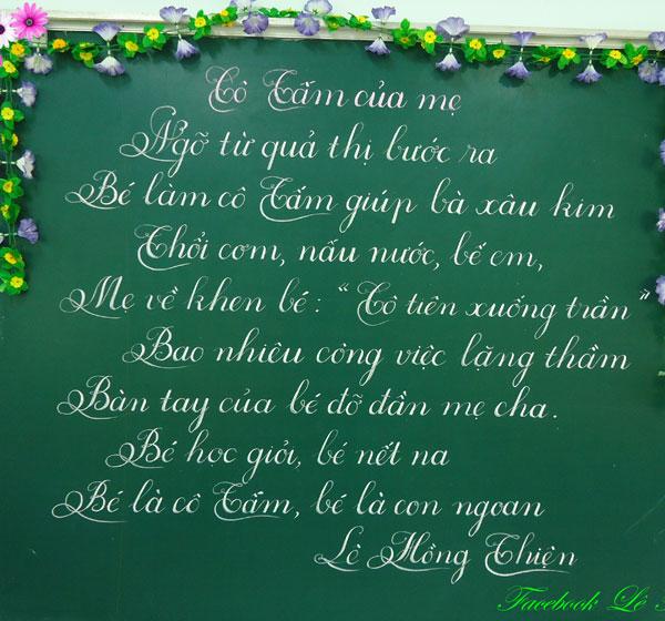 mẫu chữ viết đẹp của thầy cô giáo