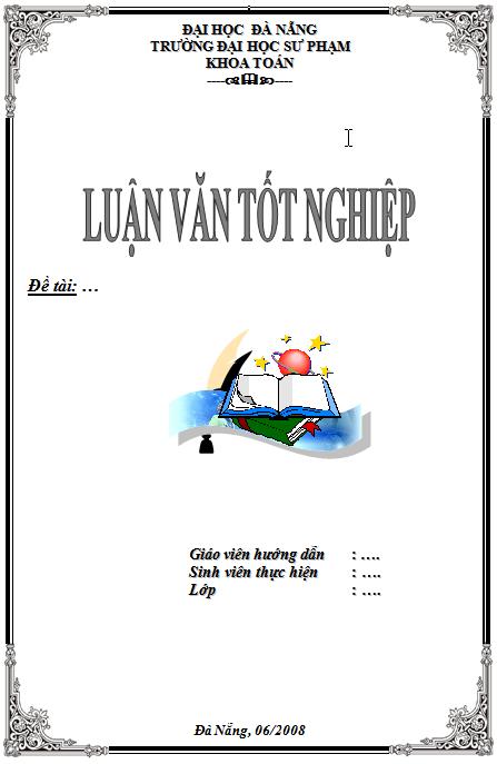 mẫu khung bìa giáo án