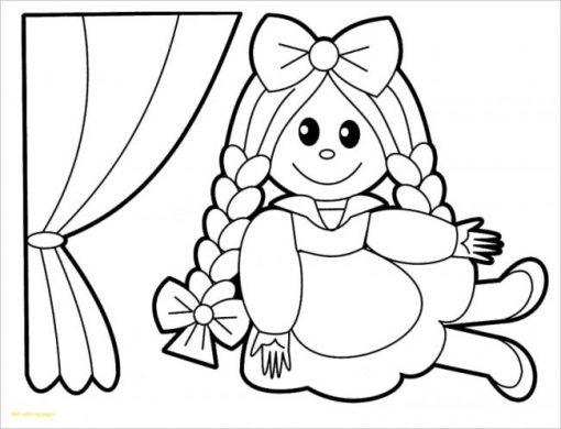tranh tô màu búp bê xinh xắn cho bé gái 4 tuổi