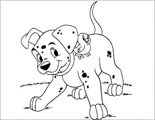 tranh tô màu con chó cho bé 4 tuổi