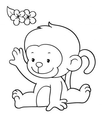 Tổng hợp các bức tranh tô màu con khỉ đẹp nhất