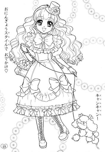 tranh tô màu công chúa chibi đẹp cho bé gái 4 tuổi