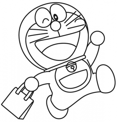 tranh tô màu doremon cho bé 4 tuổi