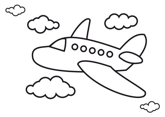 tranh tô màu máy bay cho trai 4 tuổi