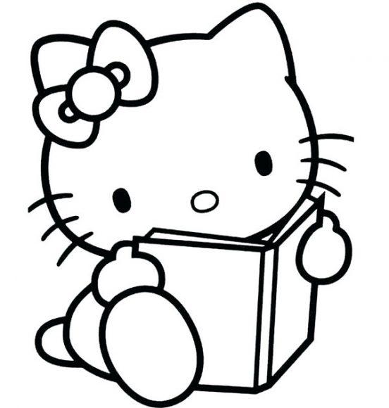 tranh tô màu mèo hello kitty cho bé gái 4 tuổi