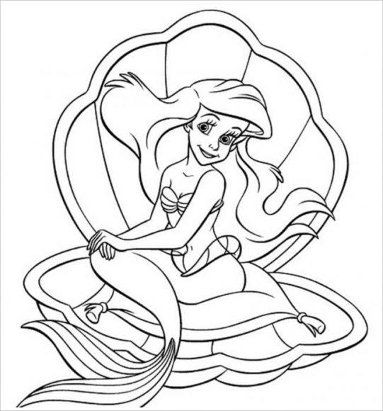 tranh tô màu nàng tiên cá cho bé gái 4 tuổi