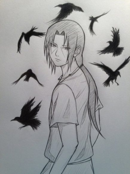 tranh ve but chi sasuke dep