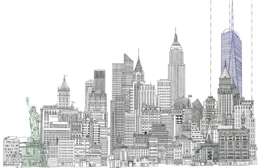 tranh vẽ thành phố New York đẹp