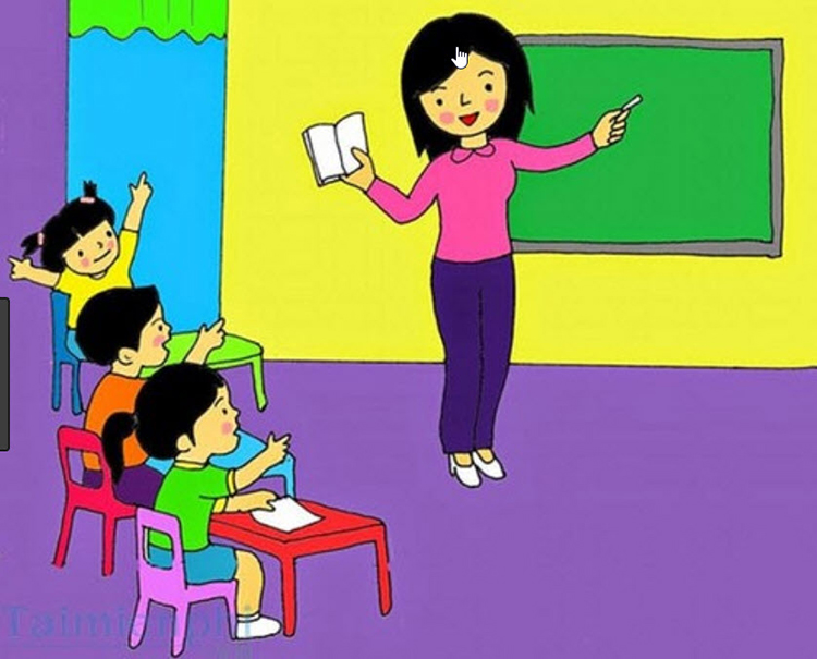vẽ tranh về buổi học lớp 6 dễ nhất