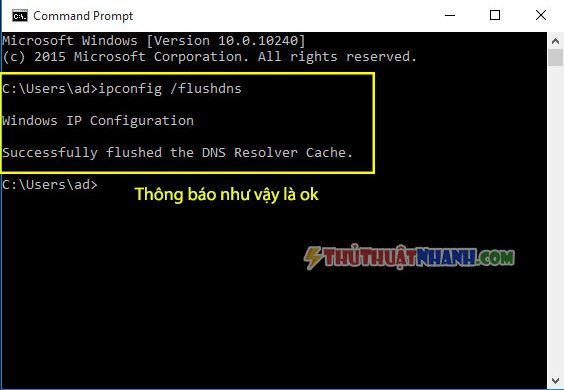 xoa cache dns may tinh windows