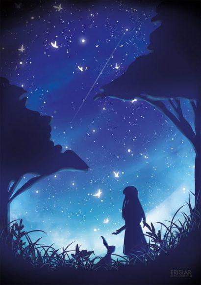hình anime cô đơn một mình