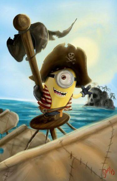 hình minion làm cướp biển