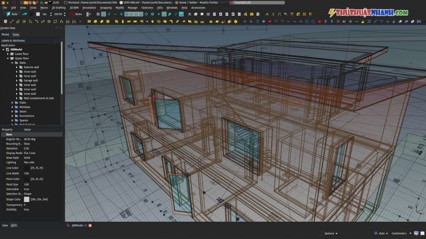 phan mem ve 3d FreeCad