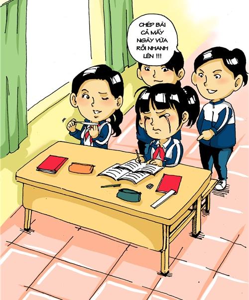 ảnh châm biến hài hước về bắt nạt trong học đường