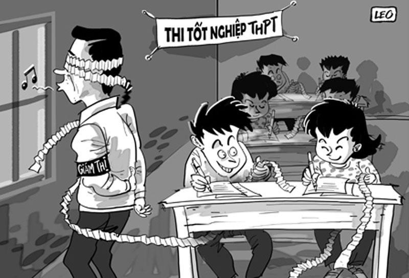 ảnh chế châm biếm hài bựa về gian lận trong kỳ thi thpt quốc gia