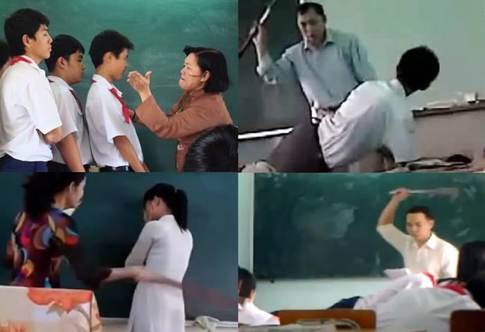 ảnh chế hài về đánh học sinh tại trường