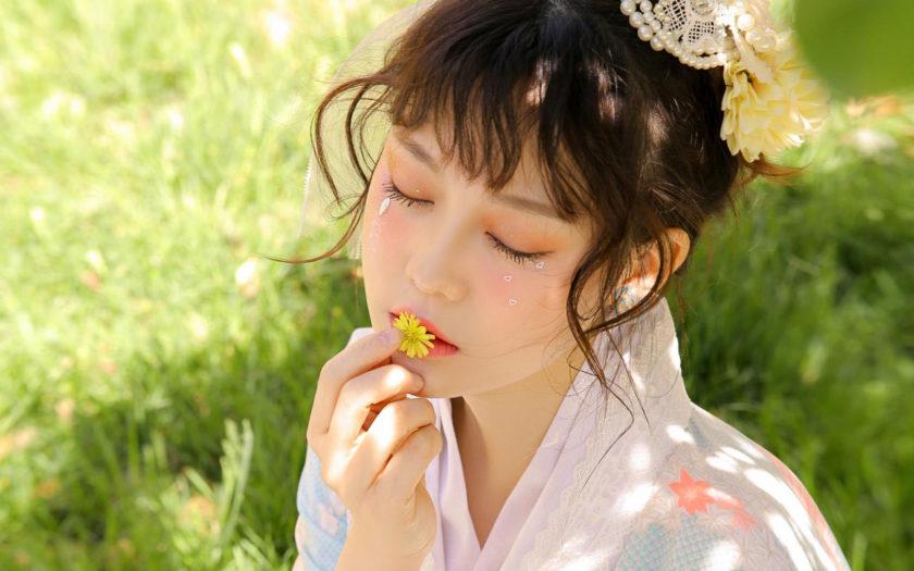 anh gai nhat voi kimono xinh dep