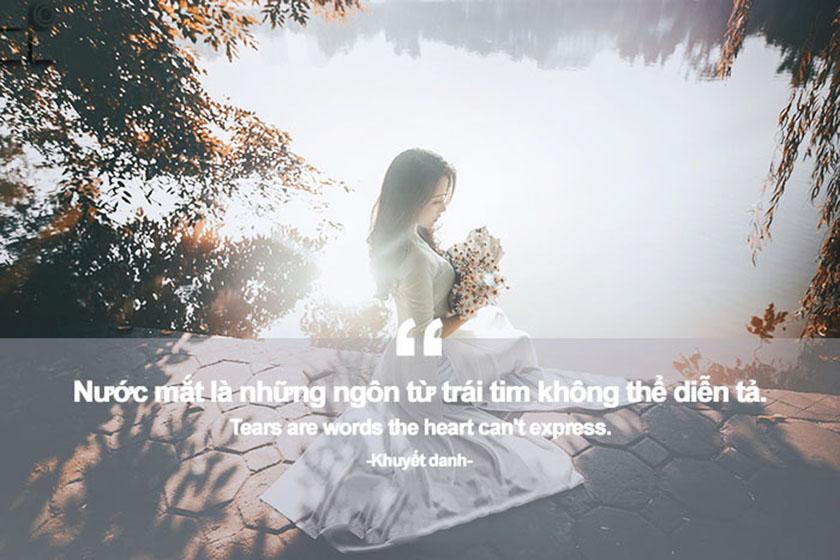 chữ buồn đẹp về tình yêu và nước mắt