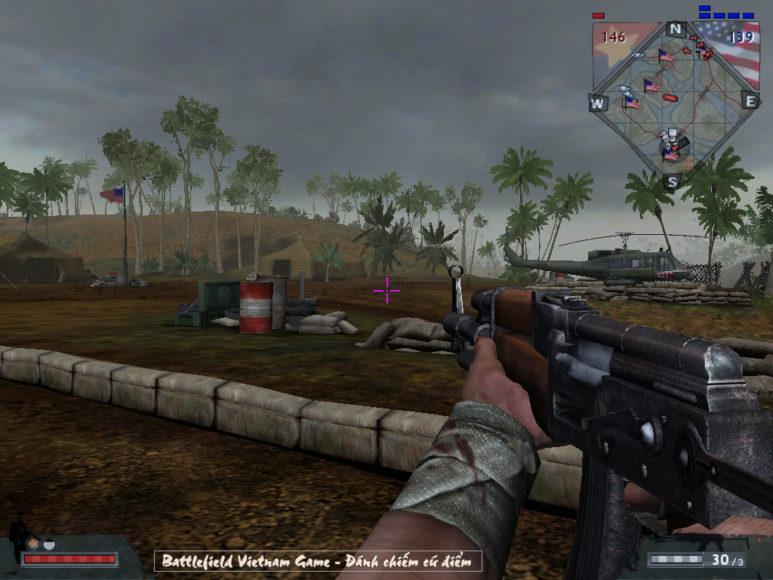 danh chiem cu diem trong game Battlefield Vietnam