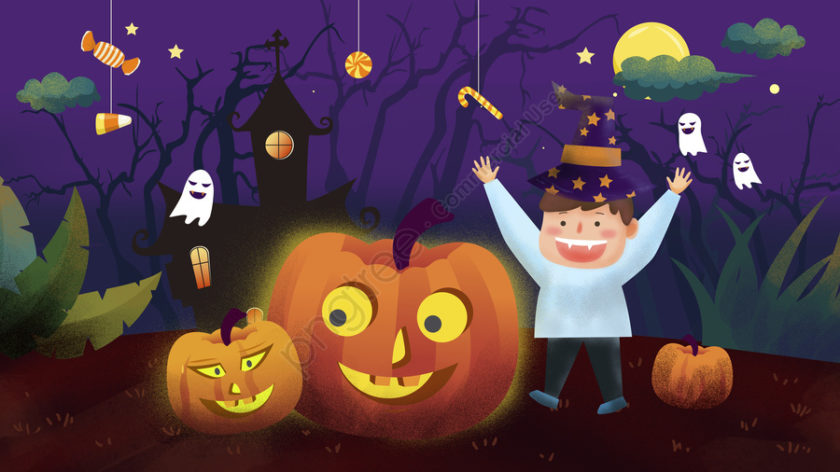 hình vẽ hoạt hình dễ thương lễ hội Halloween