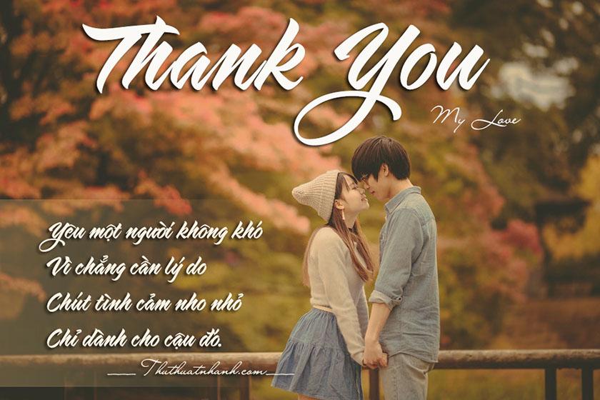 Lời cảm ơn người yêu, người thương hay ngọt ngào