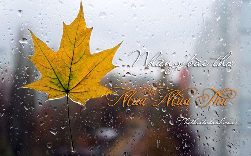 Những bài thơ về mưa mùa thu