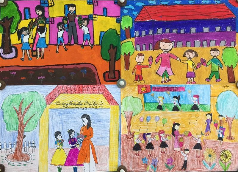 những bức tranh vẽ tay chào mừng kỷ niệm ngày nhà giáo việt nam
