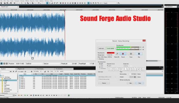 Phần mềm Sound Forge Audio Studio