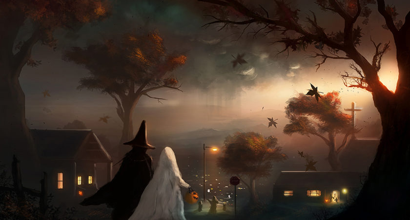 tranh halloween đẹp nhất
