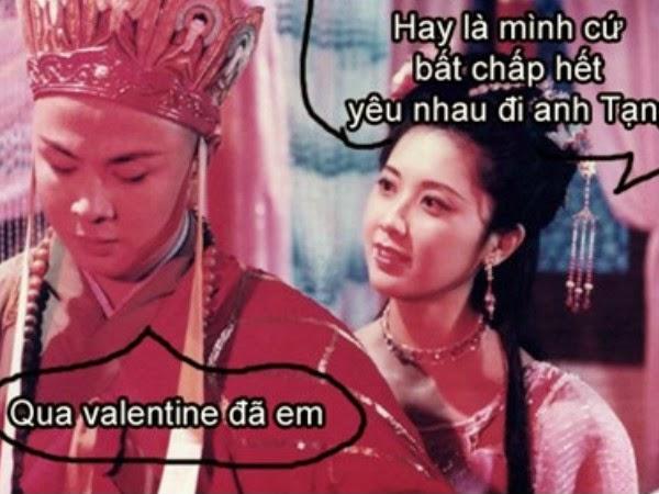 ảnh tình yêu hài hước qua valentine đã em