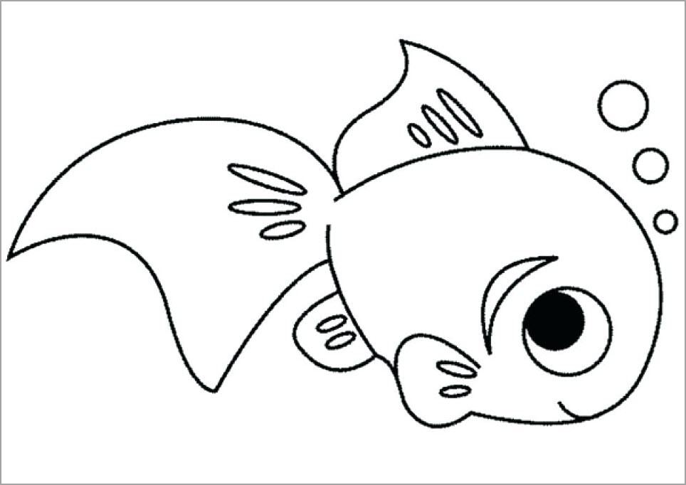 ảnh vẽ con cá cảnh dễ thương