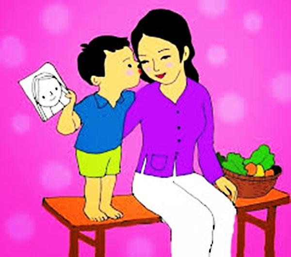 bé vẽ tranh tặng mẹ đẹp và ý nghĩa nhất