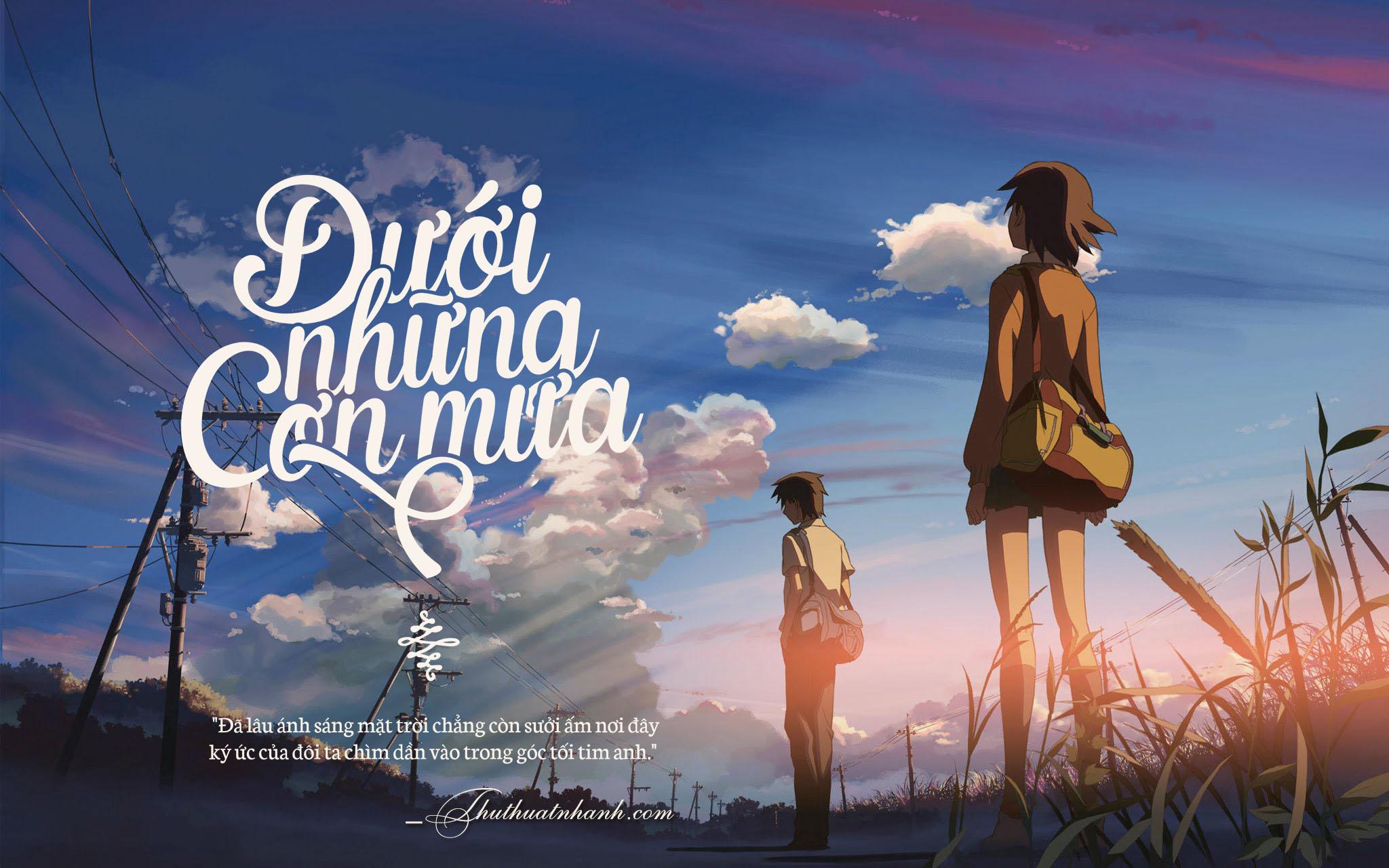 hình ảnh chia tay anime đẹp buồn và lãng mạn