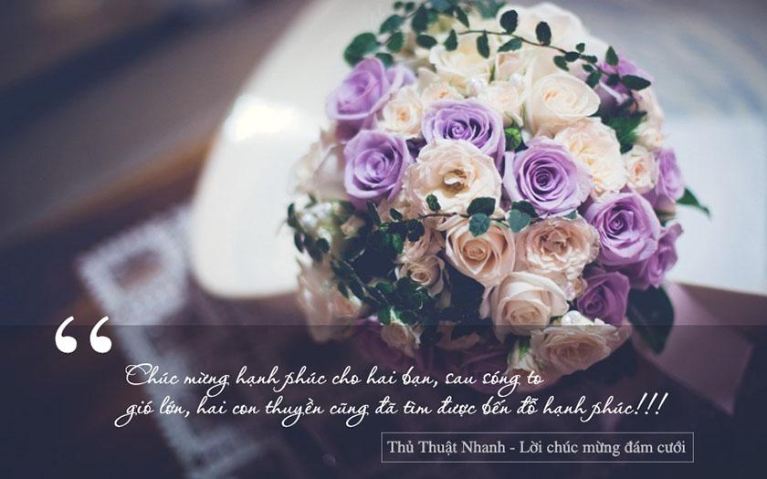 lời chúc mừng đám cưới