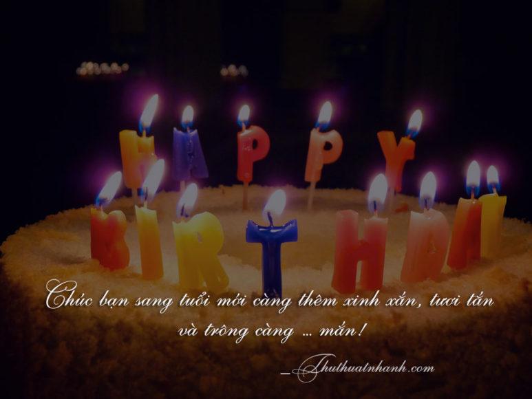 Lời chúc sinh nhật bạn thân lầy lội bá đạo ngắn gọn