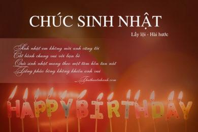 Lời chúc sinh nhật bạn thân lầy lội, bựa, bá đạo và hài hước